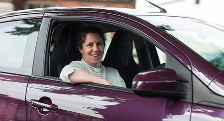 Reverend Elizabeth Dunning gets new car for first time
