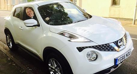 The Reverend David Morris and his Nissan Juke