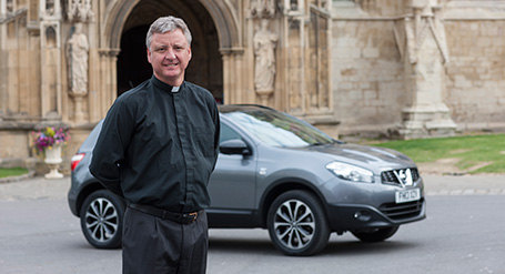 The Very Reverend Stephen Lake loves the peace of mind