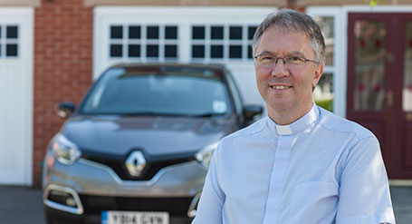 The Reverend Paul Wilson and his Renault Captur