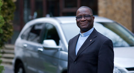 The Reverend Derrick Dzandu-Hedidor is ready to weather anything