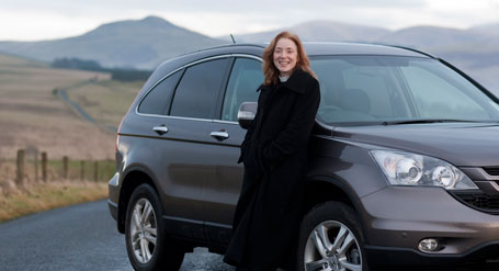 The Reverend Anna Rodwell and her reliable four wheel drive