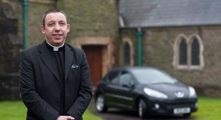 Reverend Tim Hewitt and his Peugeot 207