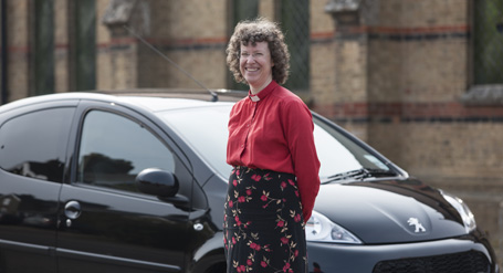The Reverend Katy Dunn and her first car from Newgate