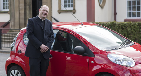 The Reverend Luke Smith enjoys a reliable car with maintenance included